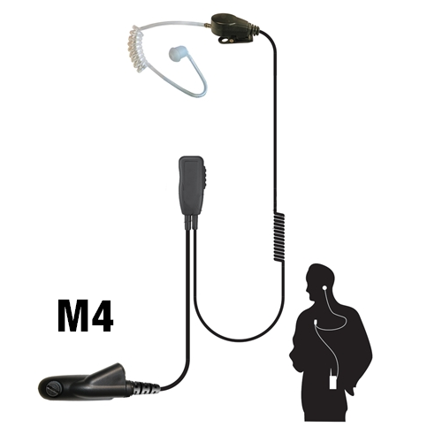 Code Red Recruit Lapel Microphone with Acoustic Tube Earpiece