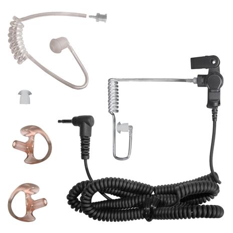 Silent Listen-Only Earpiece w/ 2.5mm Connector & Bonus Parts Pack