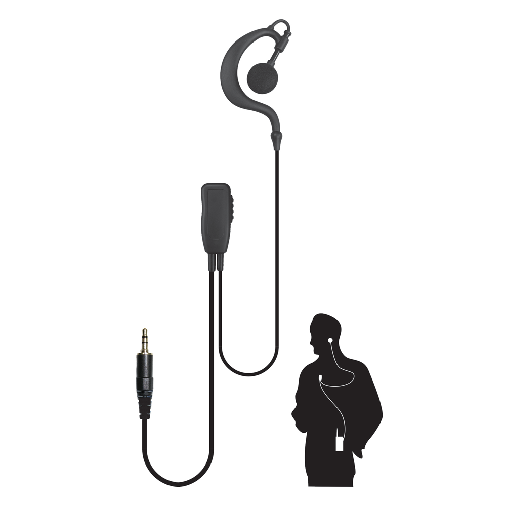 Code Red Watchman Lapel Microphone with Soft Hook Earpiece
