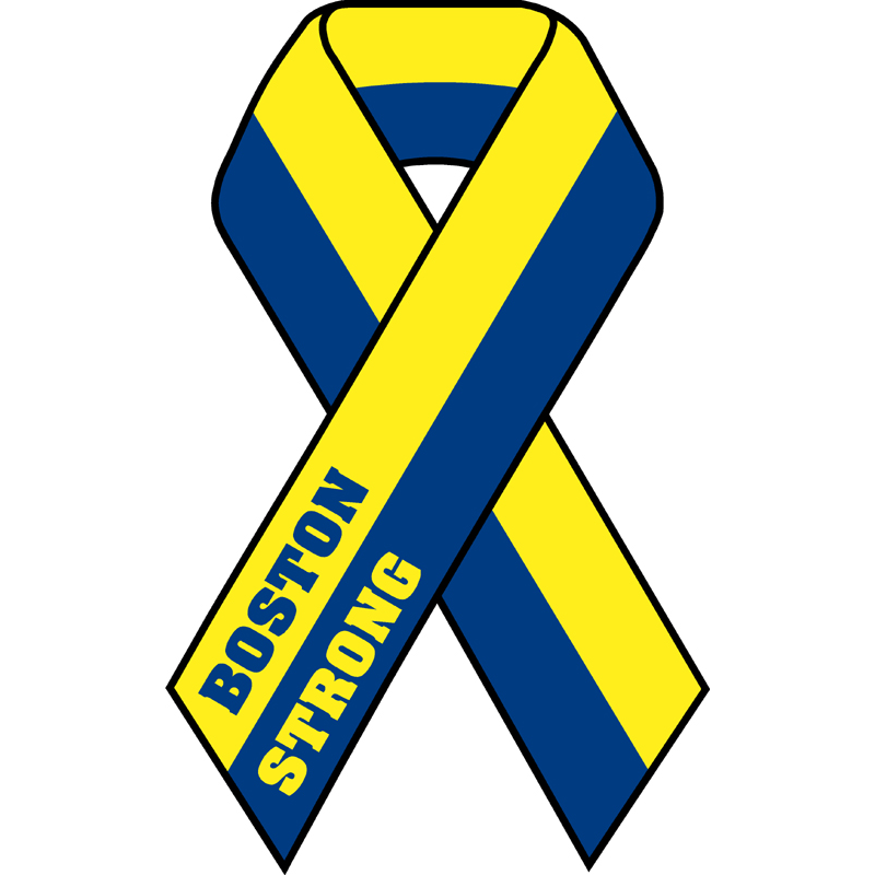 Exclusive Boston Strong Remembrance Ribbon Decal