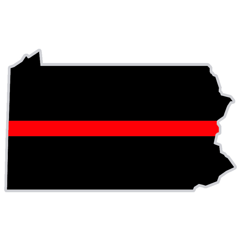 Exclusive Thin Red Line State Decal