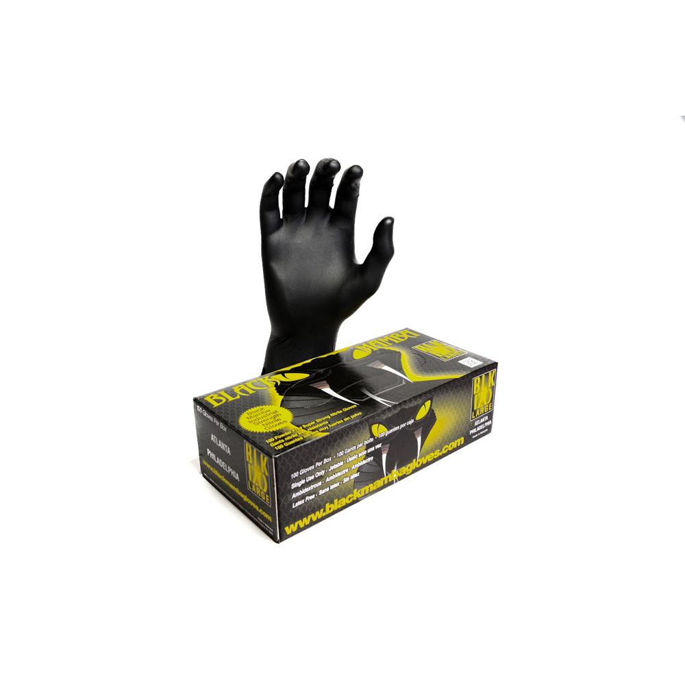 Black Mamba Black 6 mil Nitrile Gloves