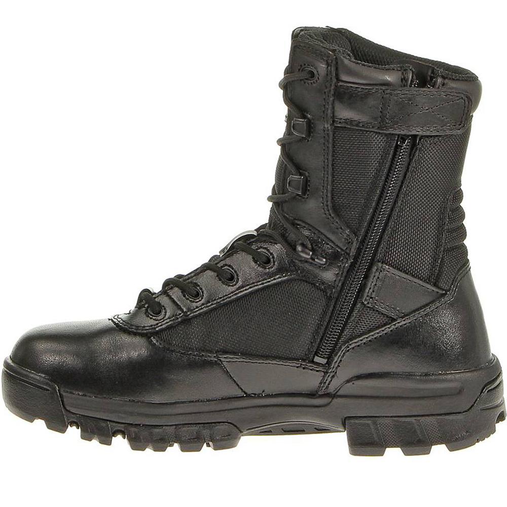 """Bates Women's 8"""" Tactical Sport Side Zip Boot, Black"""