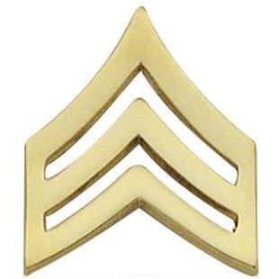 Smith & Warren Sergeant Chevron Collar Pin, 1