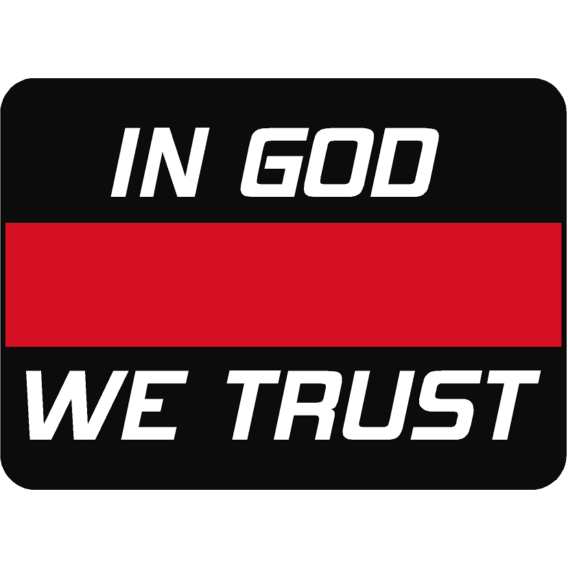 Exclusive In God We Trust Thin Red Line Reflective Decal