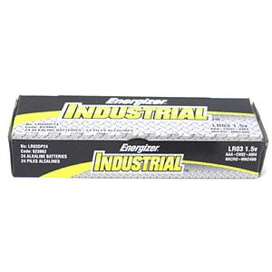 Energizer AAA Industrial Alkaline Batteries, Box of 24