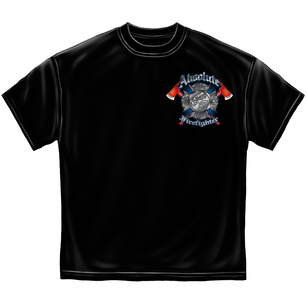 Absolute Firefighter Maltese Cross Gas Mask T-Shirt