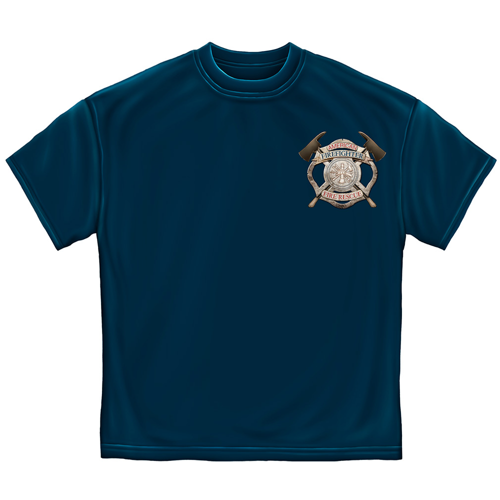 American Firefighter Forged Without Fear Fire Rescue T-Shirt