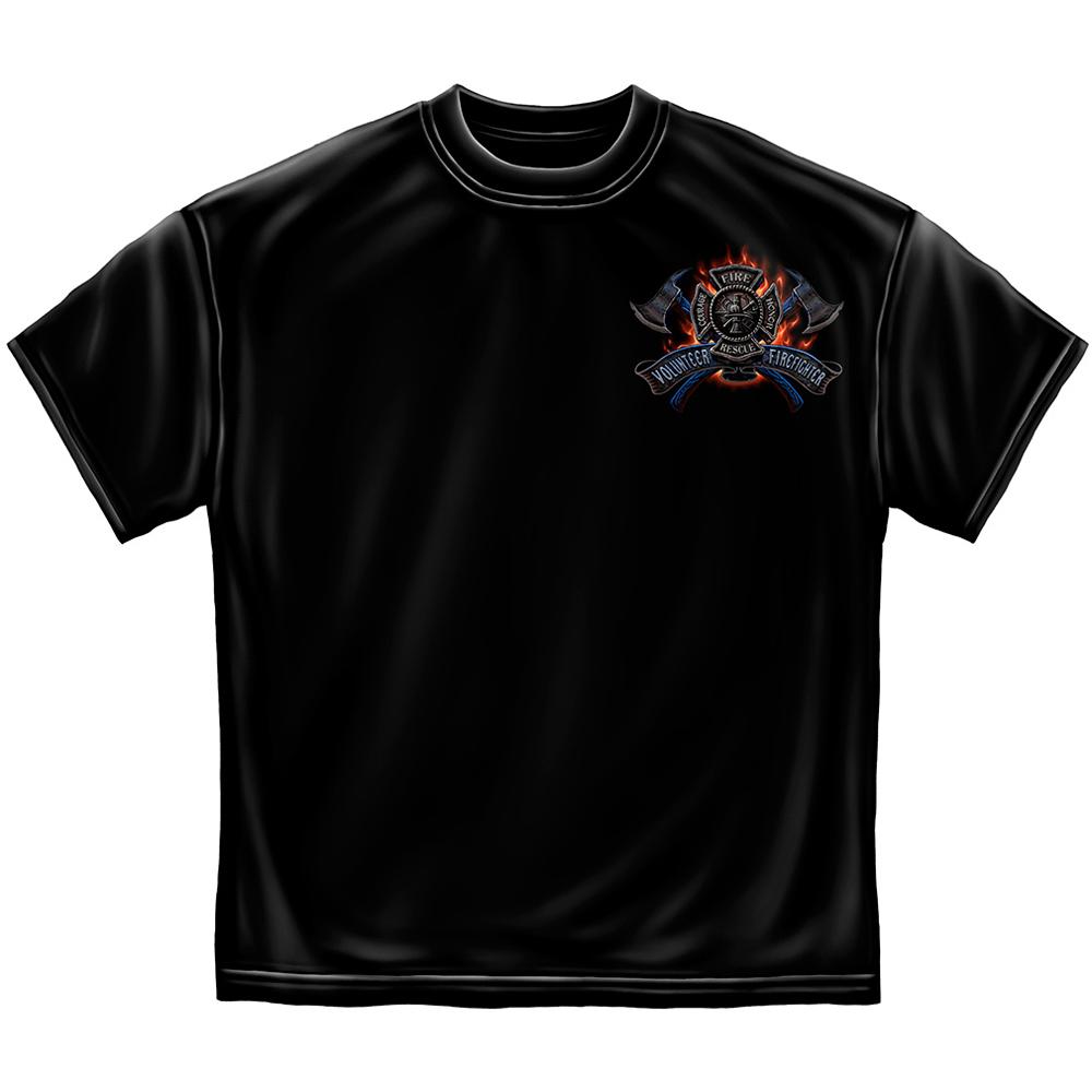Volunteer Firefighter Fire Eagle T-Shirt