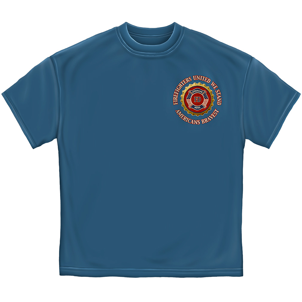 Honor Service Sacrifice Firefighters United We Stand T-Shirt