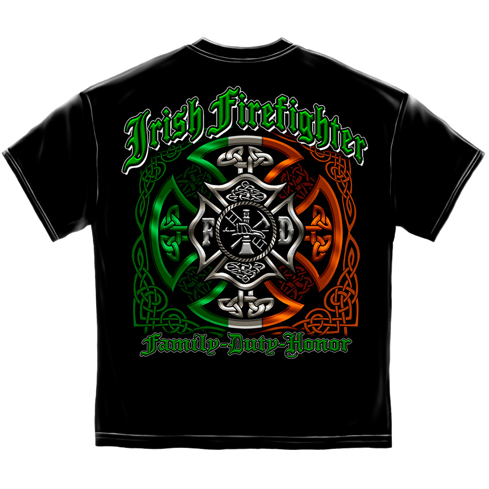 Elite Breed Irish Family Duty Honor Firefighter T-Shirt