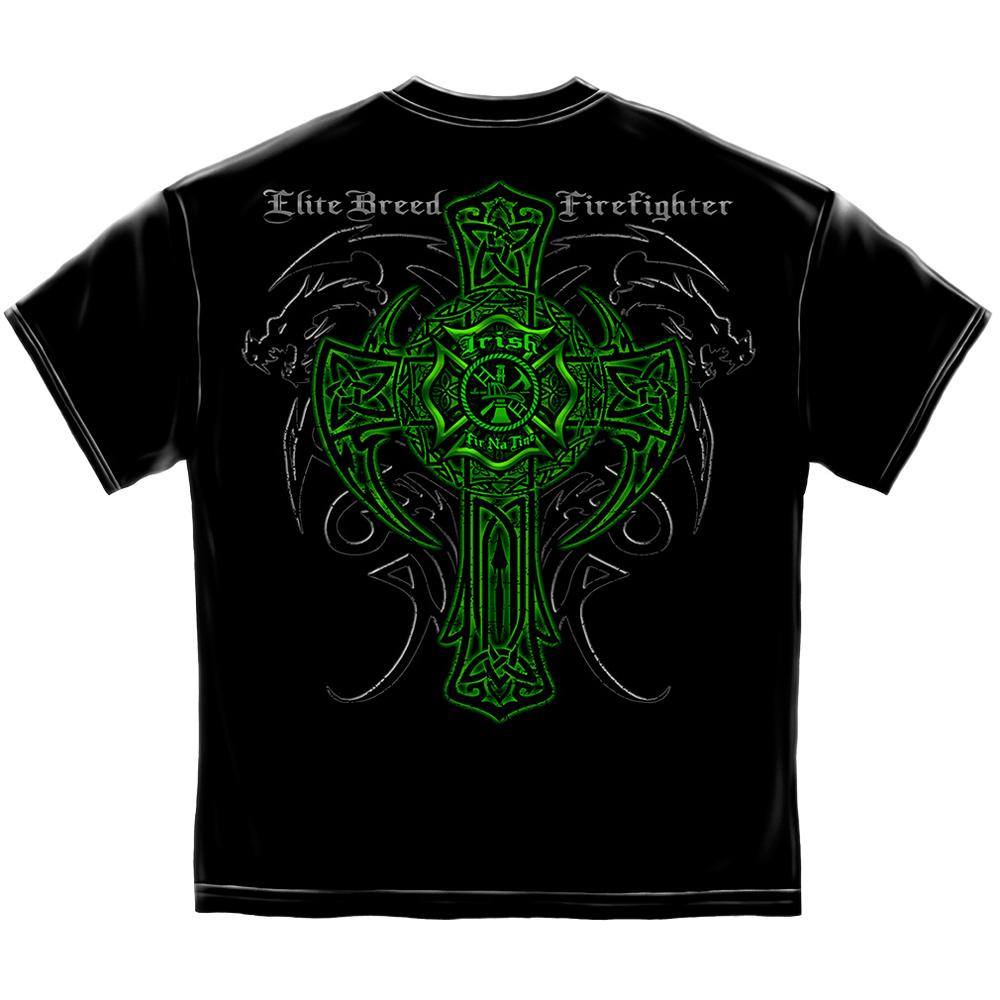 Elite Breed Irish Dragon Firefighter T-Shirt