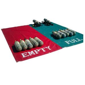 Husky SCBA Full/Empty, Red/Green Staging Mats