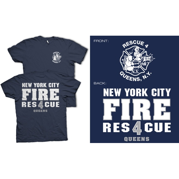 Fisher Sportswear NYC Rescue 4 Queens Short-Sleeve T-Shirt