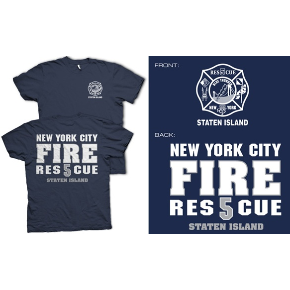 Fisher Sportswear NYC Rescue 5 Staten Island Short-Sleeve T-Shirt