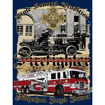 Fisher Sportswear Time Honored Tradition Brotherhood Firefighter Short-Sleeve T-Shirt