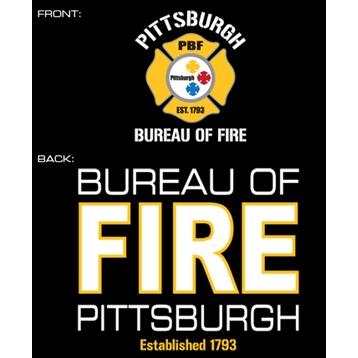 Fisher Sportswear Pittsburgh Bureau Of Fire Hooded Sweatshirt