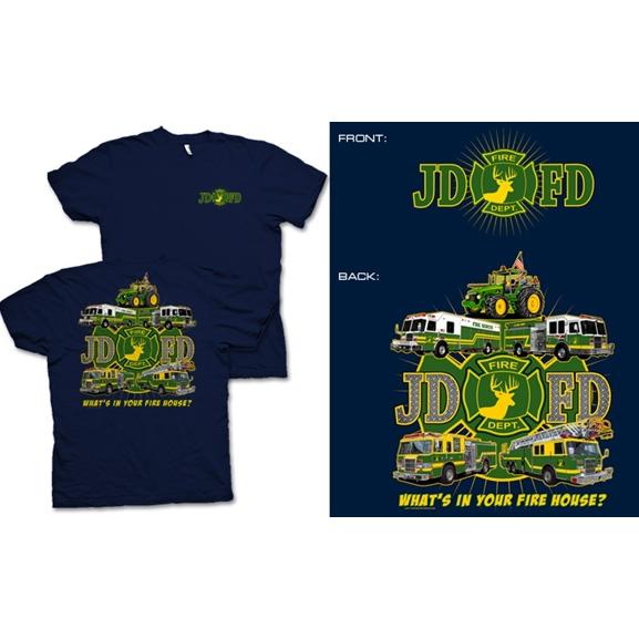 Fisher Sportswear JDFD Firefighter Short-Sleeve T-Shirt