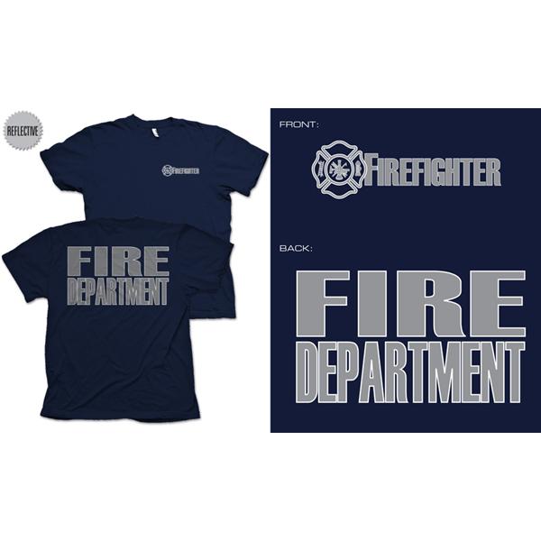 Fisher Sportswear Firefighter Reflective Short-Sleeve T-Shirt