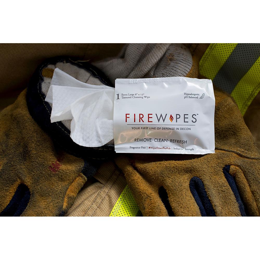 Firewipes On-Scene Firefighter Skin Decontamination Wipes