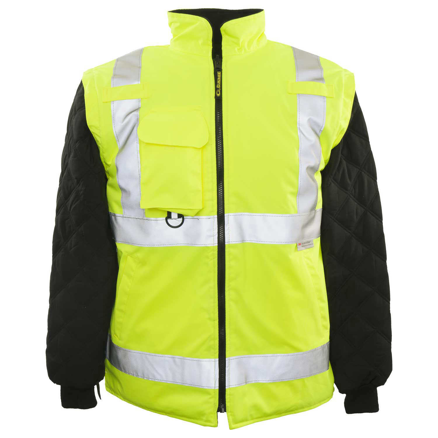 Game Workwear 6-in-1 Jacket, Neon Lime