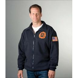 Game Workwear 8075 Firefighter's Full-Zip Job Shirt, Navy