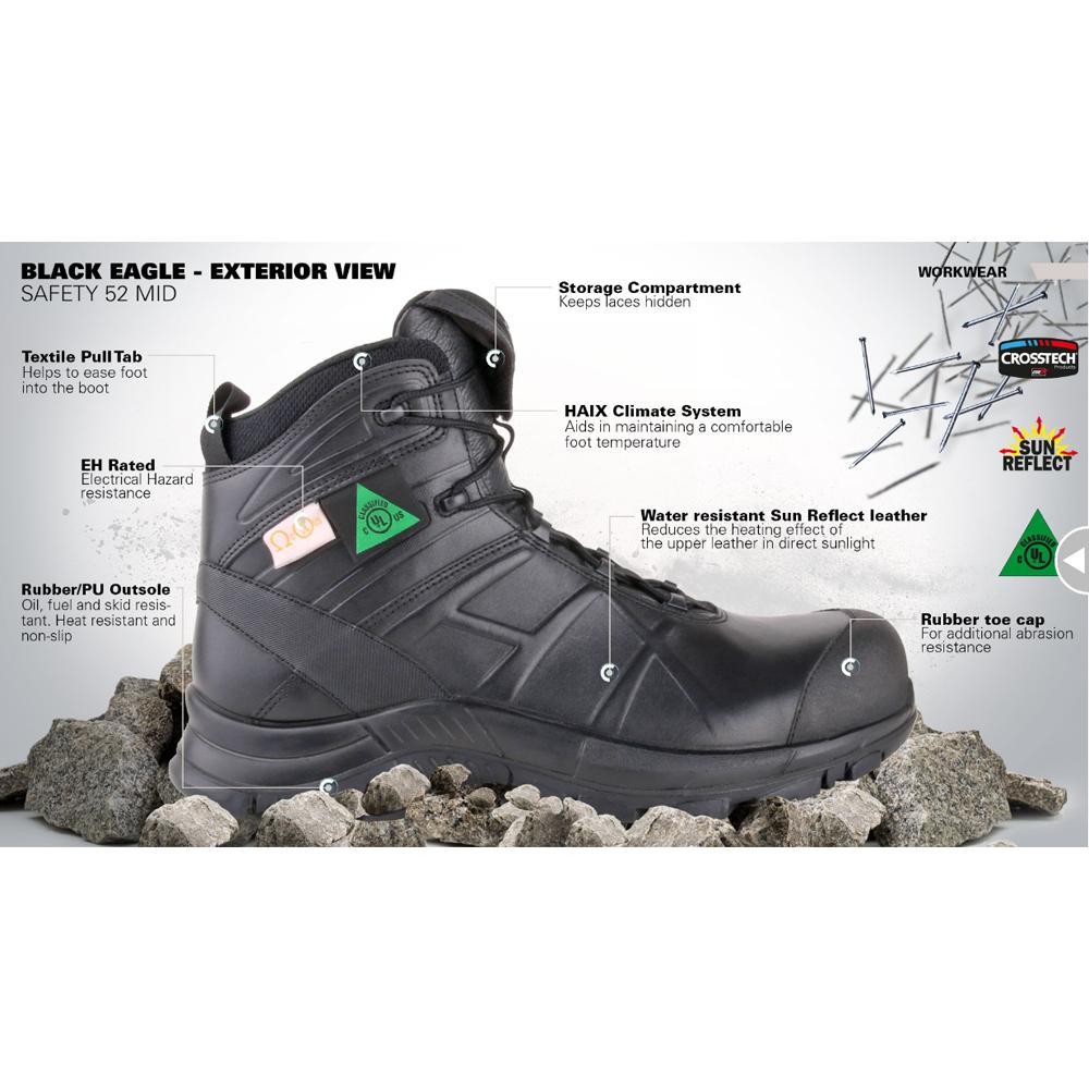 Haix Black Eagle Safety 52 Mid, 5-1/2