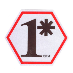 TheFireStore 1 Asterisk, Two Color Decal, Hex Shape