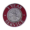 Hook-Fast 1 Year of Service Pin