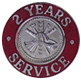 Hook-Fast 2 Years of Service Pin
