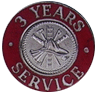Hook-Fast 3 Years of Service Pin