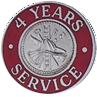 Hook-Fast 4 Years of Service Pin