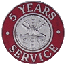 Hook-Fast 5 Years of Service Pin