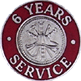 Hook-Fast 6 Years of Service Pin