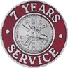Hook-Fast 7 Years of Service Pin