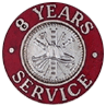Hook-Fast 8 Years of Service Pin