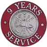 Hook-Fast 9 Years of Service Pin