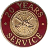 Hook-Fast 20 Years of Service Pin