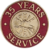 Hook-Fast 35 Years of Service Pin