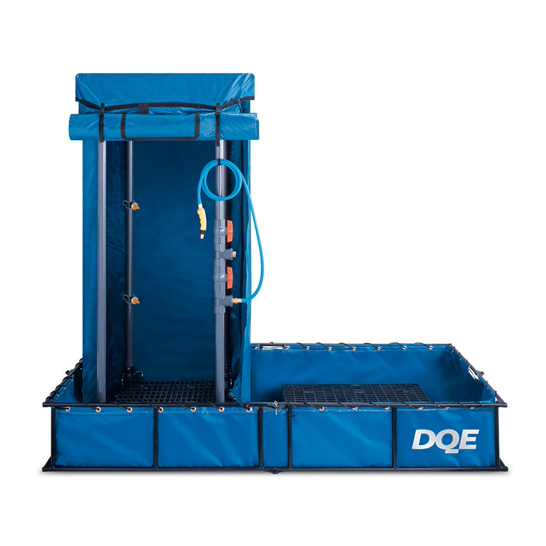 DQE Standard Decon Shower System with Standard Collection Pool