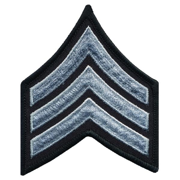 Sergeant Chevron, 1 pair with Merrowed Edges on Black Border
