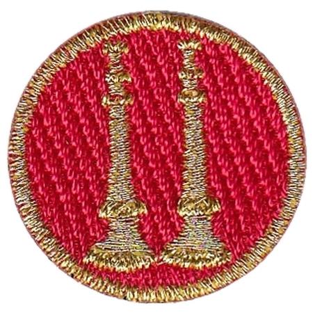 Hero's Pride Embroidered Captain Collar Insignia, 2 Parallel Bugles
