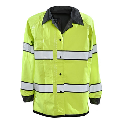 Gerber Outerwear Pro Dry Duty Raincoat, ANSI 1072010 Class 3