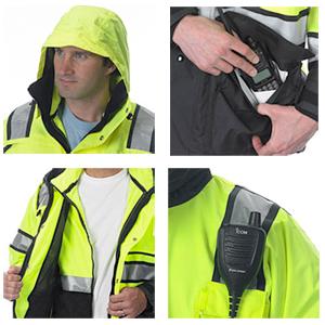 ANSI Plus2 Parka & Hi-Vis Fleece Liner/Jacket, ANSI 107-2010 Class 3