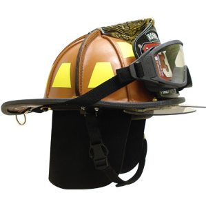 LION American Heritage Helmet with Low Profile Brass Eagle Shield Holder