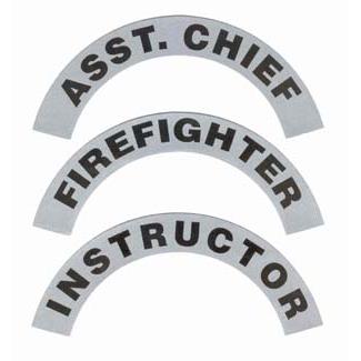 Safety Effects Scotchlite Helmet Crescents - One Pair - Black Print