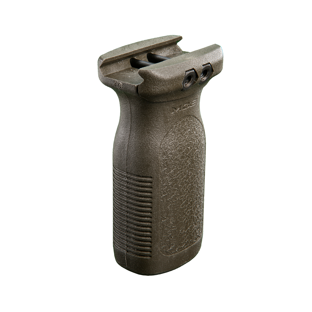 Magpul MOE RVG (Rail Vertical Grip) with Custom-Fitted Universal Mounting Rail and Mounting Hardware