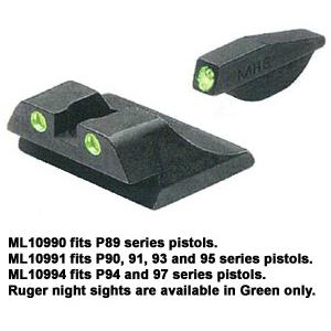 Meprolight Ruger, TRU-DOT Fixed Night Sight Sets for Auto Pistols