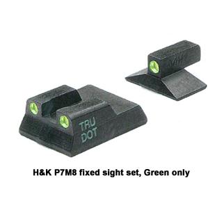 Meprolight H&K Pistols, TRU-DOT Fixed Night Sight Sets for USP, P2000, P7M8
