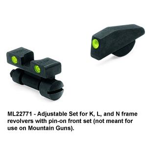 Meprolight Smith & Wesson, TRU-DOT Adjustable Night Sight Set for K, L, N Frame Revolvers